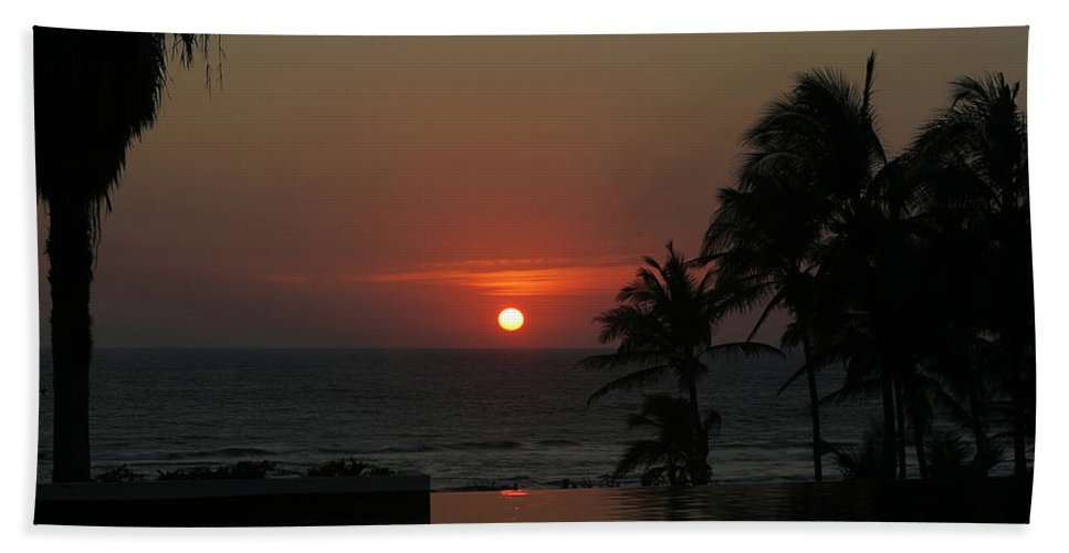 Sun Beach Towel featuring the photograph Acapulco Red by Belinda Greb