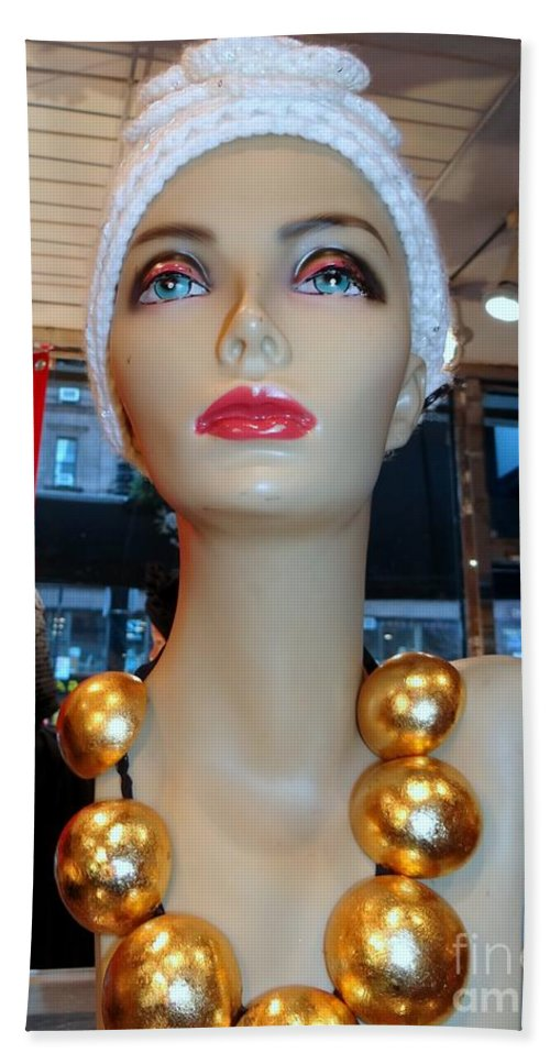Mannequins Beach Towel featuring the photograph Accent Necklace by Ed Weidman