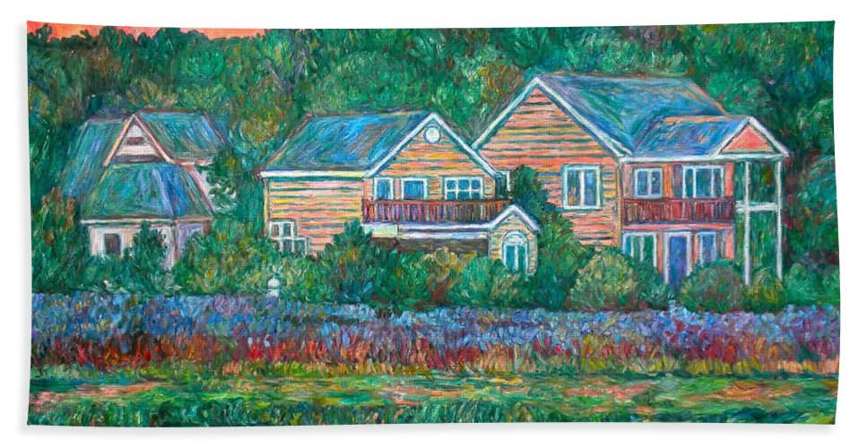Landscape Beach Sheet featuring the painting Across The Marsh At Pawleys Island    by Kendall Kessler