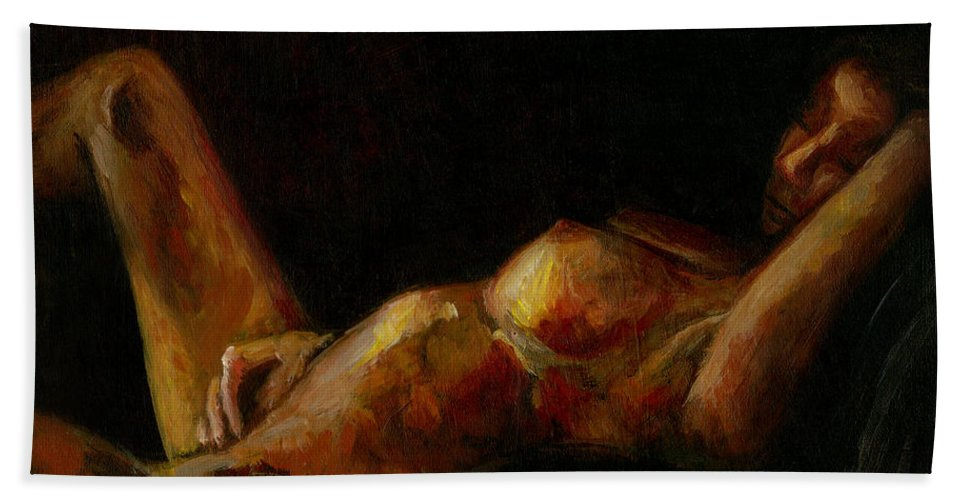 Figurative Beach Towel featuring the painting Ada by Sarai Rosario