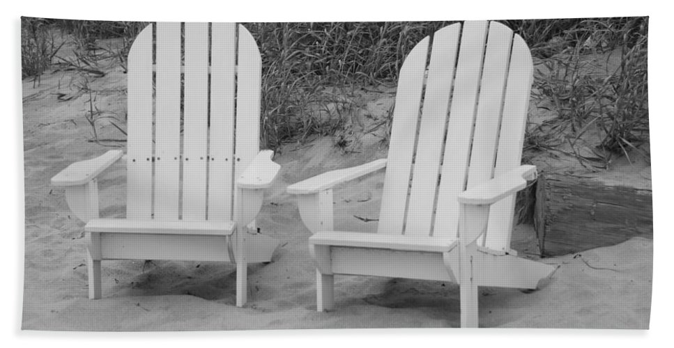 Chairs Beach Towel featuring the photograph Adirondachairs by Rob Hans