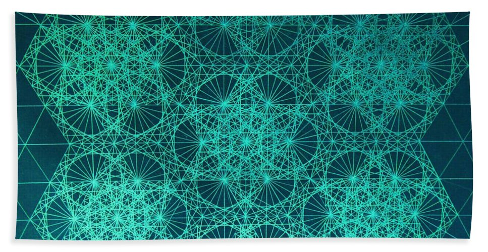 Jason Beach Towel featuring the drawing Adrift In Space Time by Jason Padgett