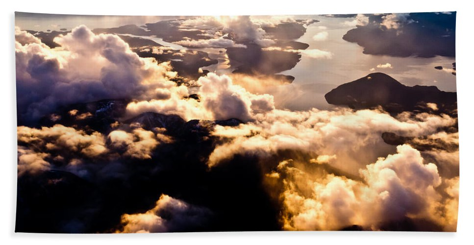 Above Beach Towel featuring the photograph Aerial View Of Pacific Coast Of Bc Canada by Stephan Pietzko