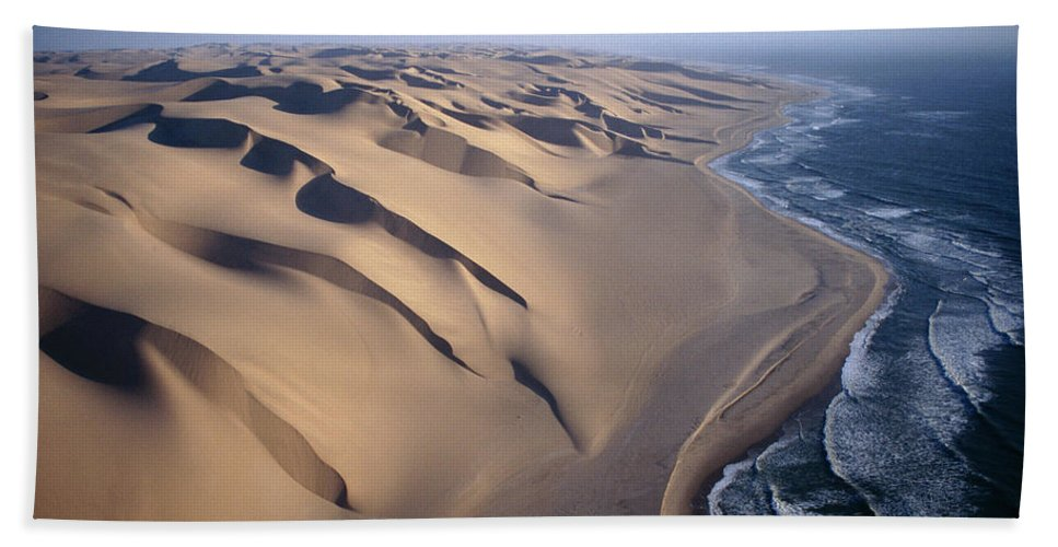 00511477 Beach Towel featuring the photograph Aerial View Of Sand Dunes by Michael and Patricia Fogden
