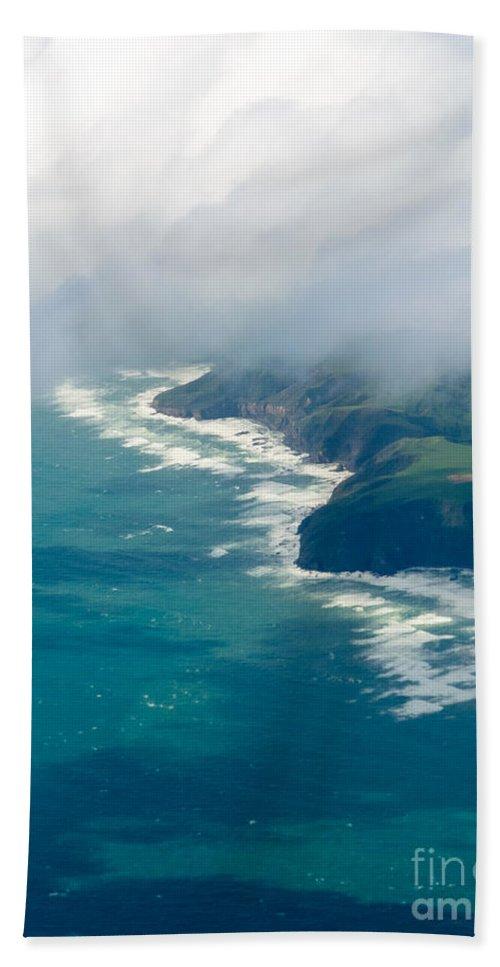 Tasman Sea Beach Towel featuring the photograph Aerial View Of Tasman Sea Shore Nz North Island by Stephan Pietzko