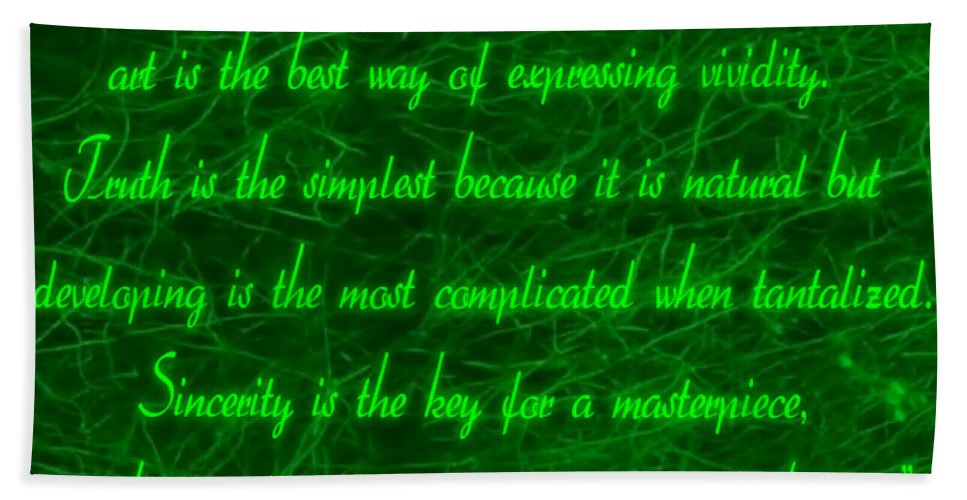 Aesthetic View Beach Towel featuring the digital art Aesthetic Quote 1 by Withintensity Touch