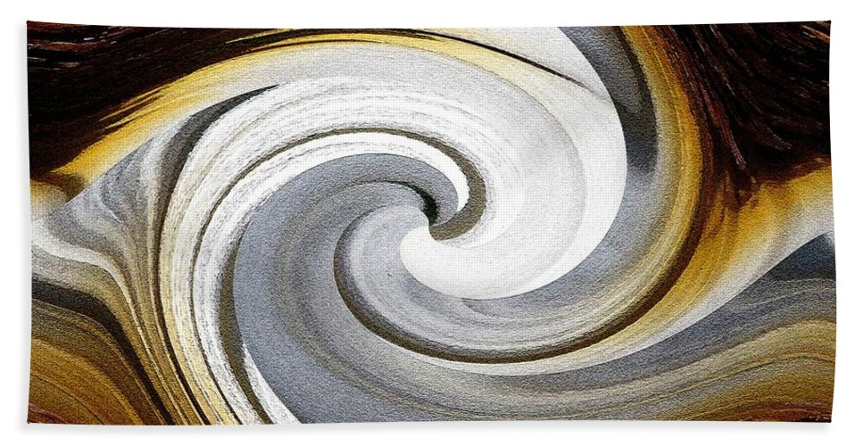 Osteospermum Beach Towel featuring the painting African Moon Twirls by J McCombie