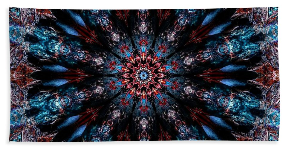After Beach Towel featuring the digital art After Midnight by Michael Damiani