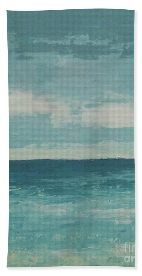 Landscapes Beach Towel featuring the painting After The Rain by Gail Kent