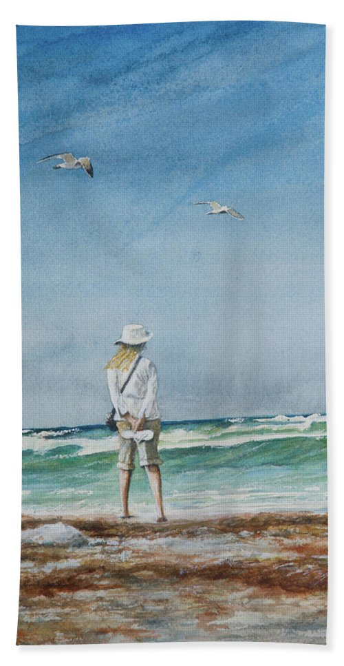 Landscape Beach Towel featuring the painting After The Storm by Arthur Fix