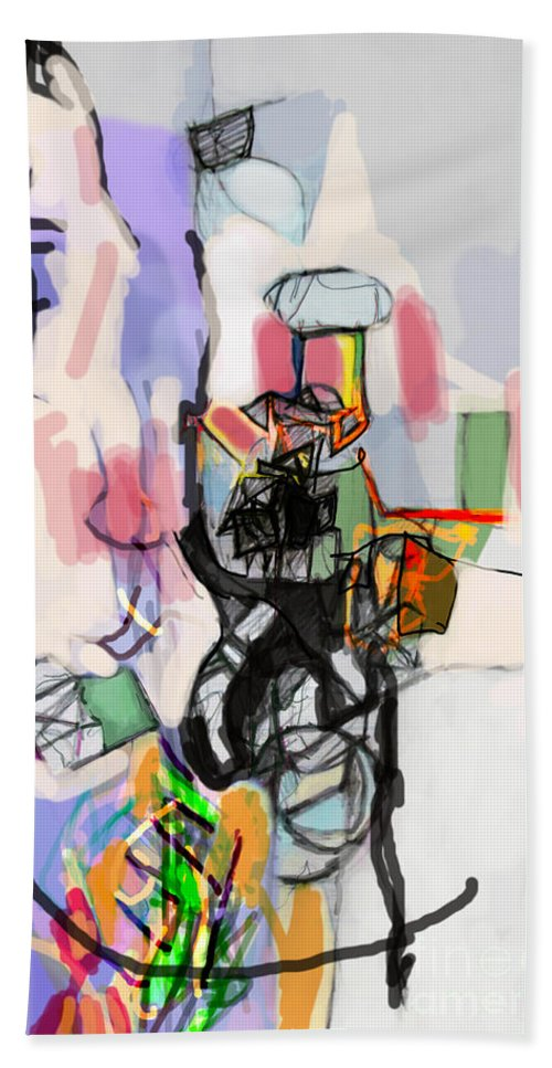 Torah Beach Towel featuring the digital art Self-renewal 14h by David Baruch Wolk