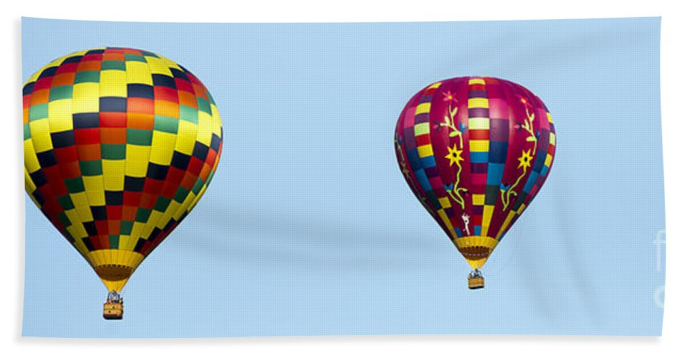 Balloons Beach Towel featuring the photograph Air Balloons 0208 by Terri Winkler
