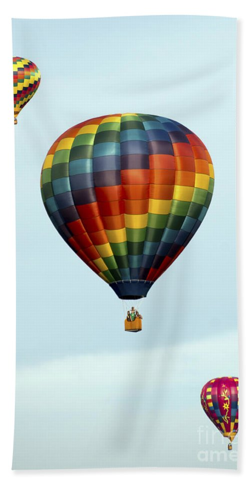 Balloons Beach Towel featuring the photograph Air Balloons 0251 by Terri Winkler