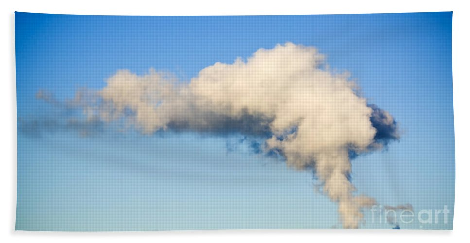 Burn Beach Towel featuring the photograph Air Pollution by Tim Hester