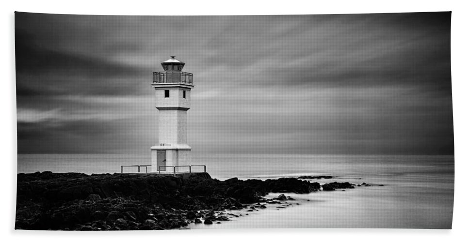 Lighthouse Beach Towel featuring the photograph Akranes Lighthouse by Ian Good