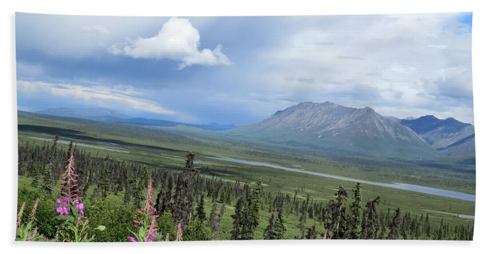 Mountain Beach Towel featuring the photograph Alaska Through My Eyes by Stacey May