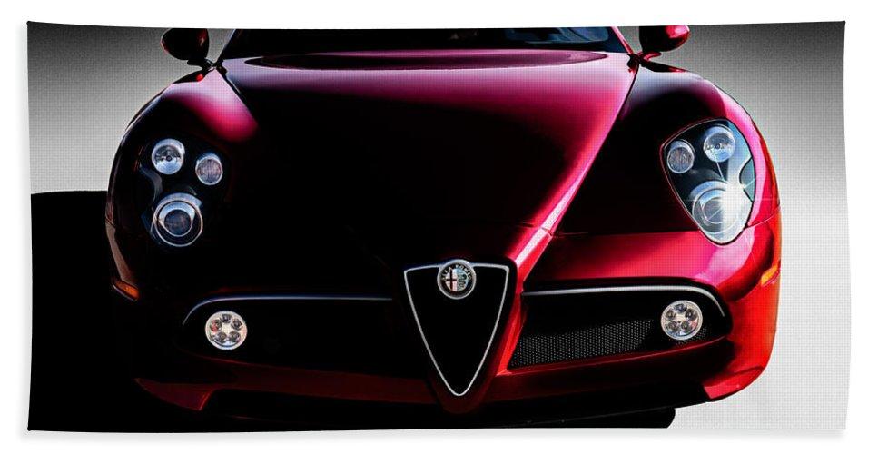 Italian Beach Towel featuring the digital art Alfa Romeo 8c by Douglas Pittman