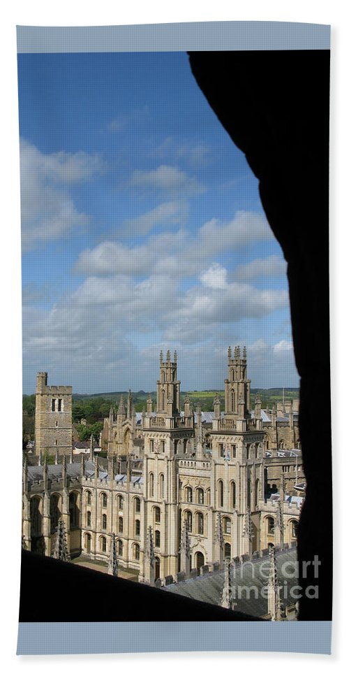 Oxford University Beach Towel featuring the photograph All Souls College And Beyond by Ann Horn