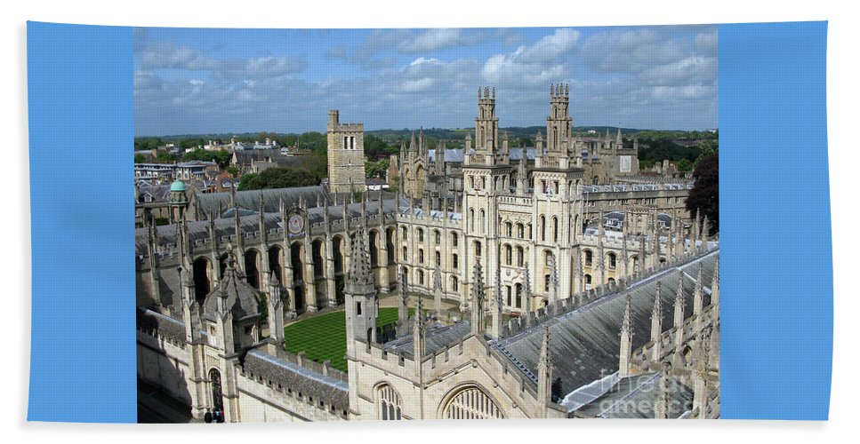 Oxford Beach Sheet featuring the photograph All Souls College by Ann Horn