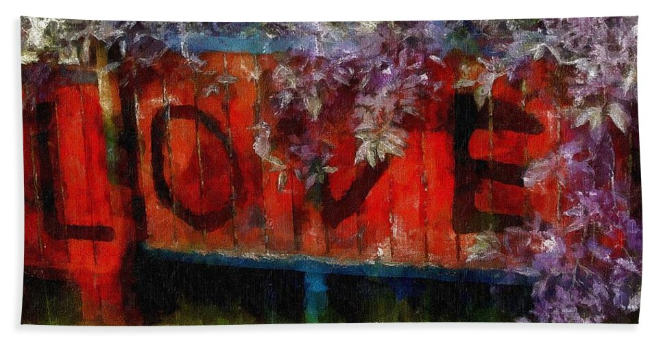 Landscape Beach Towel featuring the painting All You Need Is... by RC DeWinter