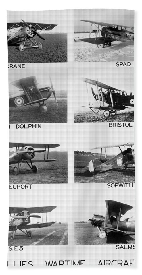 1910's Beach Towel featuring the photograph Allies World War I Aircraft by Underwood Archives