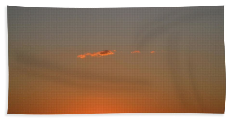 Sunset Beach Towel featuring the photograph Almost A Perfect Day by David Mayeau
