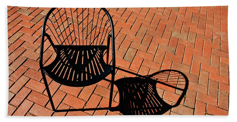 Chair Beach Towel featuring the photograph Alone Together by Gary Slawsky