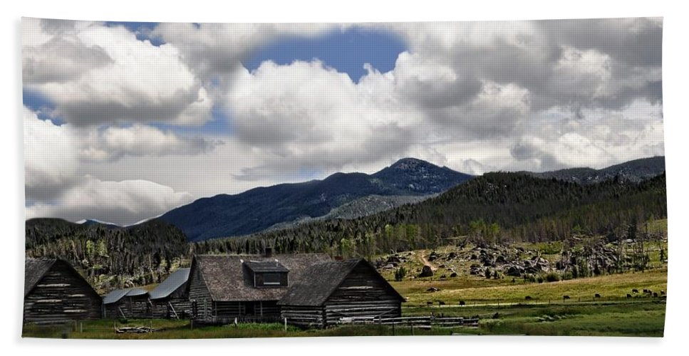 Barn Beach Towel featuring the photograph Amazing Clouds by Image Takers Photography LLC