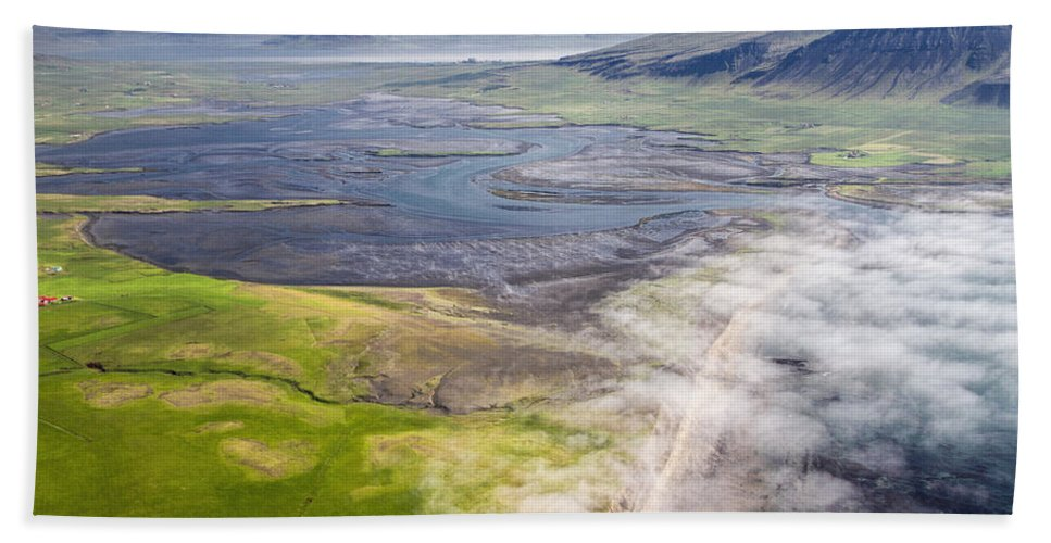 Flight Beach Towel featuring the photograph Amazing Iceland Landscape by For Ninety One Days