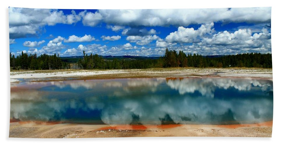 Yellowstone National Park Beach Towel featuring the photograph Amazing Nature by Catie Canetti