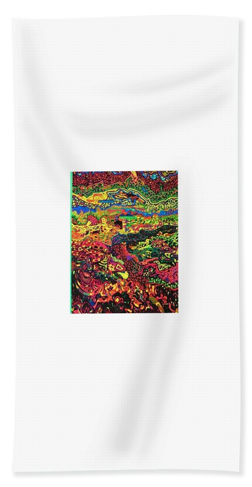 12262012 Beach Towel featuring the drawing American Abstract by Jonathon Hansen