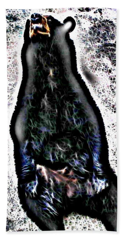 Bear Beach Towel featuring the digital art American Black Bear by April Patterson