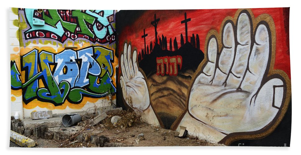 Graffiti Beach Towel featuring the photograph American Graffiti New Mexico 2 by Bob Christopher