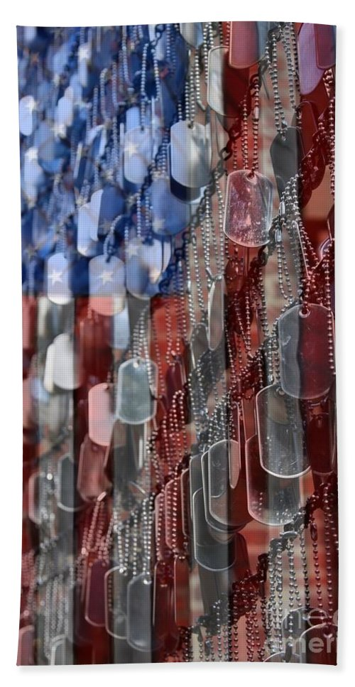 Patriotic Beach Towel featuring the photograph American Sacrifice by DJ Florek