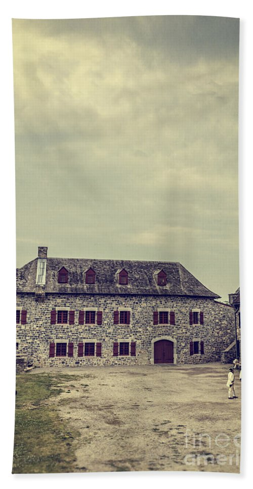 New York Beach Towel featuring the photograph Fort Ticonderoga by Edward Fielding
