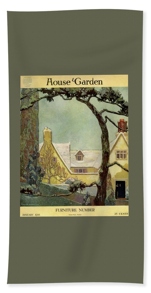 House And Garden Beach Sheet featuring the photograph An English Country House by Porter Woodruff