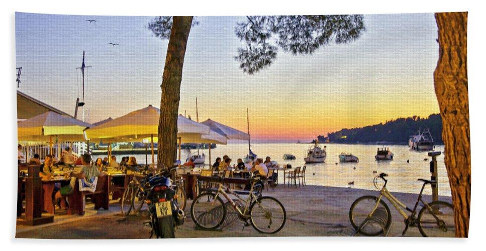 Rovinj Beach Towel featuring the photograph An Evening In Rovinj - Croatia by Madeline Ellis