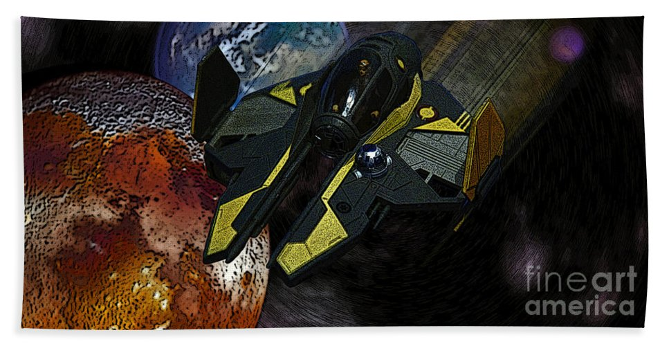 Star Beach Towel featuring the photograph 10115 Anakin's Starfighter by Colin Hunt