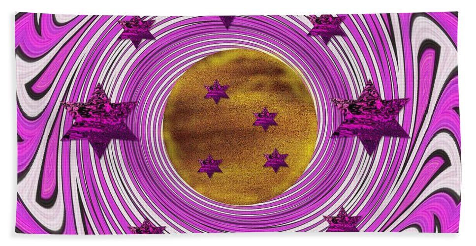 Star Beach Towel featuring the mixed media And The World Is Still Round by Pepita Selles