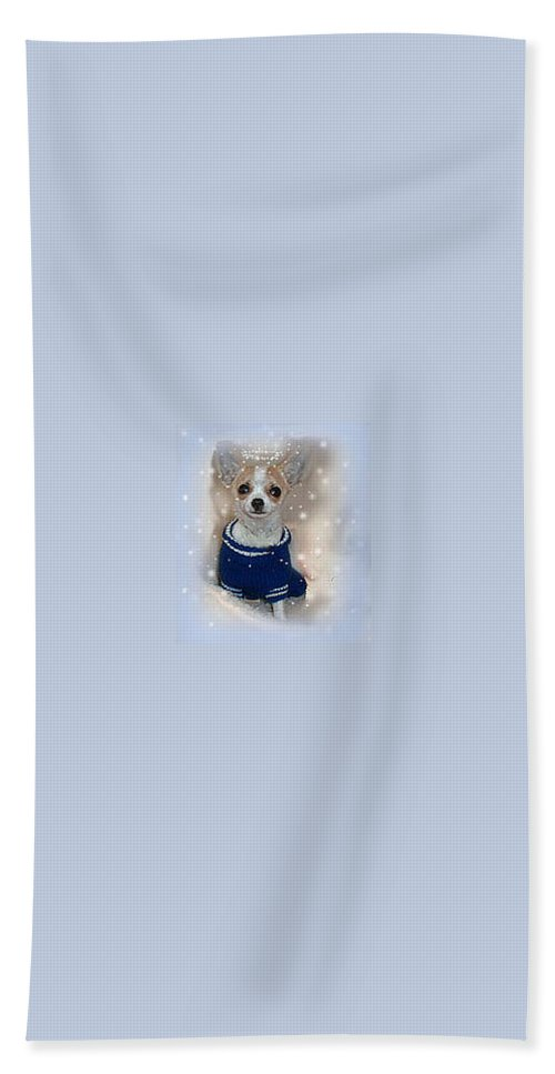 Chihuahua Beach Towel featuring the photograph Angel Chachi by Leah Delano
