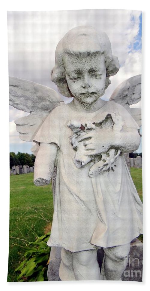 Statue Beach Towel featuring the photograph Angel Child by Ed Weidman