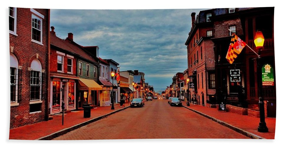 Annapolis Beach Towel featuring the photograph Annapolis by Benjamin Yeager