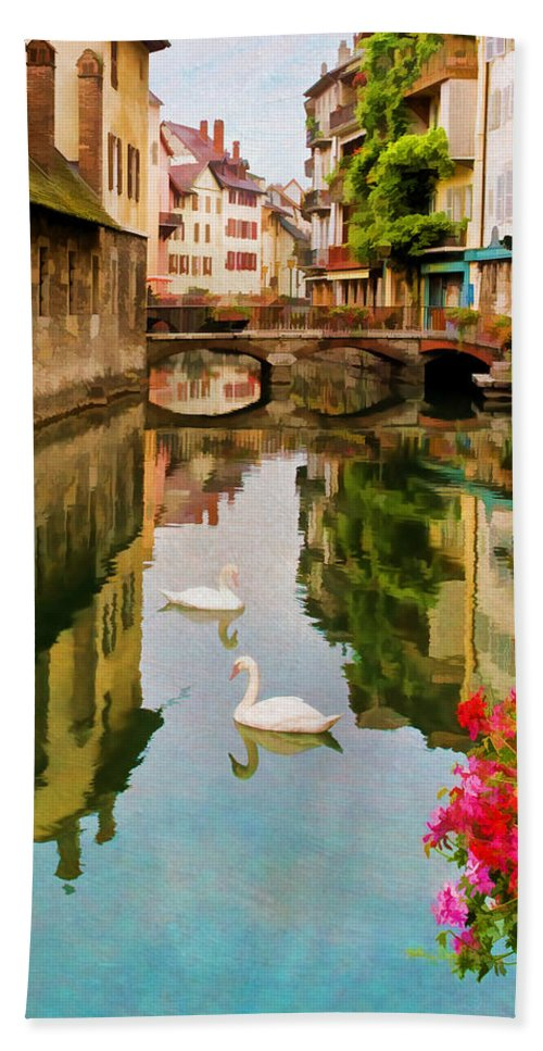 Annecy Beach Towel featuring the photograph Annecy by Jean-Pierre Ducondi