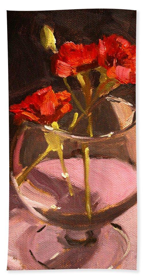 Anniversary Beach Towel featuring the painting Anniversary by Nancy Merkle