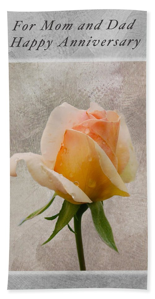 Anniversary Card Beach Towel featuring the photograph Annivesary Card by Michael Peychich