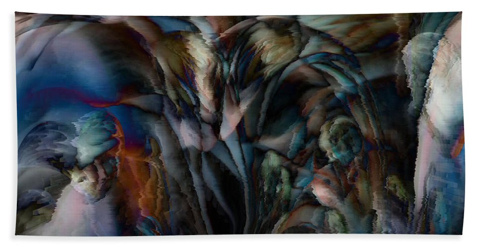 Another World Art Beach Towel featuring the digital art Another World by Linda Sannuti