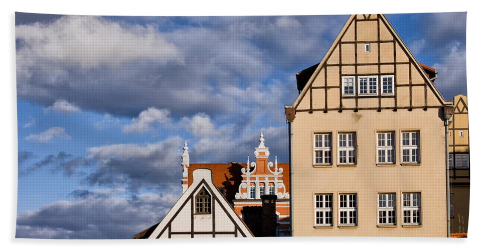 Gdansk Beach Towel featuring the photograph Apartment Houses In Gdansk by Artur Bogacki