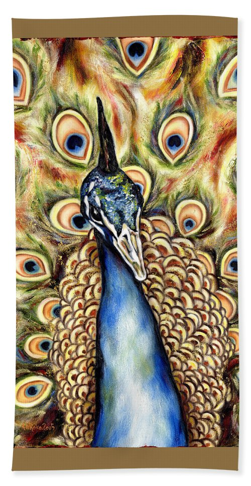 Bird Beach Towel featuring the painting Applause by Hiroko Sakai