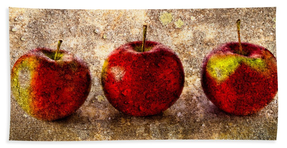 Apple Beach Towel featuring the photograph Apple by Bob Orsillo