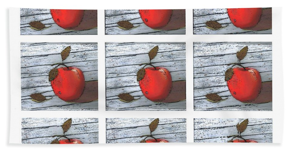 Apples Beach Towel featuring the digital art Apple Collage by Barbara Griffin